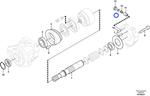 Mola do Motor do Ventilador do Sistema de Refrigeração de Óleo - Volvo CE - 14536021 - Unitário