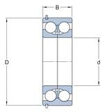 Rolamento de esferas de contato angular - SKF - 3304 A/C3 - Unitário