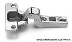 Dobradiça QS Mini Zincada Curva 105° com 10 peças FGVTN