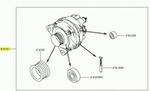 Alternador - Original Nissan - 231001HK1A - Unitário