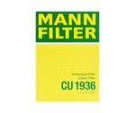 Filtro do Ar Condicionado - Mann-Filter - CU 1936 - Unitário