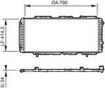 Radiador de Resfriamento - Valeo - 731611R - Unitário