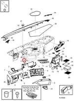 Moldura da Tecla de Comando do Rádio - Volvo - 82293816 - Unitário
