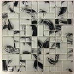 Pastilha de Vidro 30 x 30cm Monet 3T White - La Bella Griffe - LBG3TMONETWHITE - Unitário