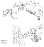 Porca do Suporte de Mola da Alavanca da Polia do Ventilador - Volvo CE - 421541 - Unitário
