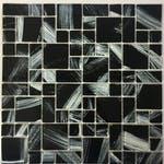 Pastilha de Vidro 30 x 30cm Monet 3T Black - La Bella Griffe - LBG3TMONETBLACK - Unitário