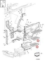 Plataforma do Degrau do Estribo Inferior Lado Esquerdo - Volvo - 20360788 - Unitário