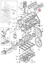 Jogo de casquilhos do virabrequim sm 0.25 mm mancais 1, 2, 3, 4, 5 marrom/azul - Original Chevrolet - 98500030 - Jogo