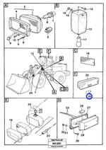 Luz de Sinalização Lateral - Volvo CE - 1576682 - Unitário