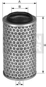 Filtro de Ar - Mann-Filter - C 13 114/4 - Unitário