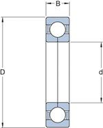 Rolamento de Esferas de Contato Angular - SKF - QJ 210 MA - Unitário