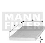 Filtro do Ar Condicionado - Mann-Filter - CU 2362 - Unitário