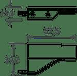 Ponteira 12 Lateral Direita e Esquerda Arezzo 18mm Inox Escovado (Par)