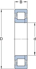 Rolamento de Rolos Cilíndricos - SKF - NUP 211 ECP - Unitário