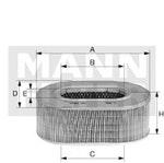 Filtro de Ar - Mann-Filter - C 1460 - Unitário