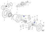 Anel de Aço da Engrenagem da Cruzeta do Diferencial - Volvo CE - 2284542 - Unitário
