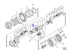 Anel de Pressão da Caixa de Mudança - Volvo CE - 1036-00310 - Unitário