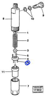 Cupilha do Injetor - Volvo CE - 244447 - Unitário