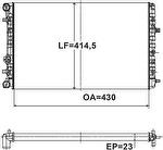 Radiador de Resfriamento - Valeo - 735147R - Unitário