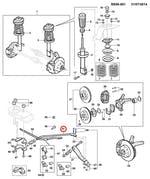 Barra tensora do braço de controle inferior dianteiro LE - Original Chevrolet - 93258840 - Unitário