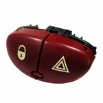 Interruptor de Pisca Alerta e Trava Peugeot 6554Lo - Chave Comutadora - DNI - DNI 2110 - Unitário