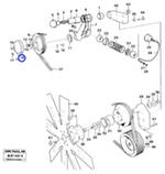 Junta da Polia do Compressor do Ar Condicionado - Volvo CE - 11030519 - Unitário