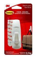 Gancho Adesivo Plástico Command Grande - 3M - H0001818105 - Unitário