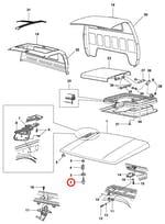 Espigão de travamento do capuz do motor - Original Chevrolet - 94630702 - Unitário