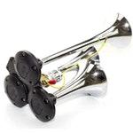 Buzina 3 Cornetas Cromada 12V - Vetor - VT049 - Unitário