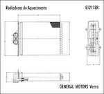 Radiador de Aquecimento - Valeo - 812118R - Unitário