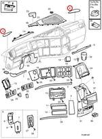 Grade Alto Falante Painel - Volvo - 3175603 - Unitário