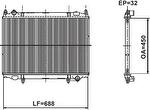 Radiador de Resfriamento - Valeo - 732966R - Unitário