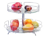 Fruteira de Mesa Soft com Vidro Cromada 400mm