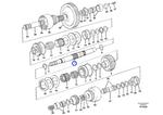 Eixo de Embreagem Hidráulica - Volvo CE - 11145512 - Unitário
