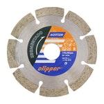 Disco diamantado para corte - segmentado Clipper 110x10x20mm - Norton - 70184624367 - Unitário