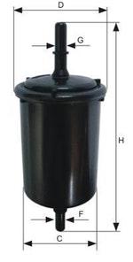 Filtro Blindado do Combustível C10 1977 - Mann-Filter - WK48/1 - Unitário