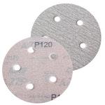 Disco de lixa seco A275 grão 120 127mm c/ 5 furos - Norton - 66261086361 - Unitário