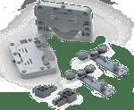 Sistema de Porta de Correr RB 68 com Amortecedor VR300 para 2 Portas 40 a 60Kg