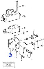 Bloco de Acoplamento - Volvo CE - 11026627 - Unitário