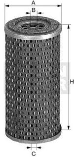 Filtro de Óleo Lubrificante - Mann-Filter - H1164 - Unitário