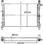 Radiador de Resfriamento - Valeo - 736080R - Unitário
