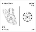 Motor de Partida - Valeo - 438179. - Unitário