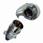 Tomada de Engate (Macho + Fêmea) Redonda 6 Polos Polarizada em Alumínio - DNI - DNI 8325 - Unitário
