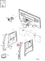 Moldura da Coluna do Para-Brisa Superior Esquerdo - Volvo - 20760124 - Unitário