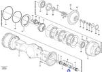 Anel Intermediário do Eixo Cardan - Volvo CE - 15144848 - Unitário