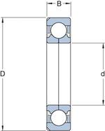 Rolamento de Esferas de Contato Angular - SKF - QJ 328 N2MA/C3 - Unitário