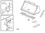 Porca Trava do Adaptador do Dente da Caçamba - Volvo CE - 961975 - Unitário