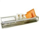 Escorredor de Embutir Anodizado Fosco para 18 Pratos 770 x 450 x 450mm
