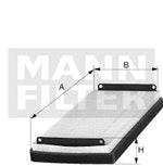 Filtro do Ar Condicionado - Mann-Filter - CU 4469 - Unitário