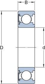 Rolamento Rígido de Esferas - SKF - 6319-Z/C3 - Unitário